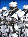` Mécanisé futuriste s de robot se tenant prêt illustration libre de droits
