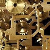 Mécanisme artificiel d'horloge Photographie stock