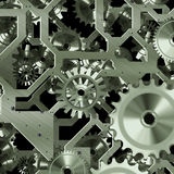 Mécanisme artificiel d'horloge Image stock