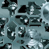Mécanisme artificiel d'horloge Photo stock