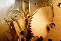 Mécanisme d'horloge Photos libres de droits