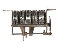 Mécanisme de compteur mécanique avec des trains Image stock