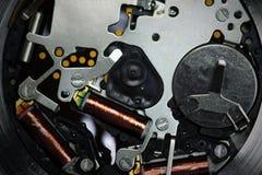 Mécanisme de montre de quartz photographie stock libre de droits