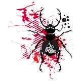 Mécanisme de scarabée contre les taches rouges Image libre de droits