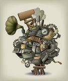 Mécanisme de Steampunk illustration libre de droits