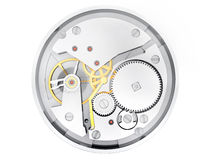 Mécanisme des heures Photographie stock libre de droits