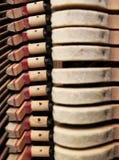 Mécanisme du piano Photographie stock libre de droits