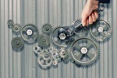 Mécanisme fonctionnant Images stock