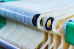 Mécanisme industriel de filtre de cartouche à l'établissement vinicole photos libres de droits