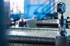 Mécanisme industriel de filtre de cartouche à l'établissement vinicole image stock