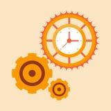 Mécanismes de temps illustration libre de droits
