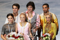 Médaillés dans le patinage de paires Images libres de droits