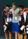 médaillés de brasse de 100m image stock