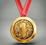Médaille illustration stock
