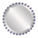Médaille argentée de récompense Photos stock