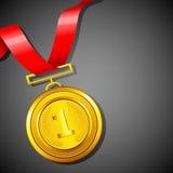 Médaille d'or illustration libre de droits