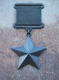 Médaille d'accomplissement de guerre Photos libres de droits
