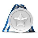Médaille d'argent Photo stock