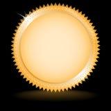 Médaille d'or avec la réflexion Photographie stock libre de droits