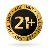 Médaille d'or de limite d'âge de vecteur Photos stock