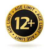 Médaille d'or de limite d'âge de vecteur Images stock