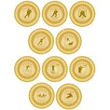 Médaille d'or sport-6 Photographie stock libre de droits