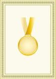 Médaille dans la trame Photos stock