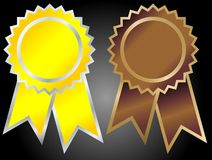 Médaille de bande de vecteur Photographie stock libre de droits