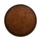 Médaille de bronze d'isolement sur le fond blanc Photo libre de droits