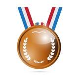Médaille de bronze de vecteur, récompense Photo libre de droits