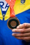 Médaille de bronze olympique à Pékin Photos libres de droits