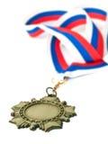 Médaille et bande de trois couleurs Image stock