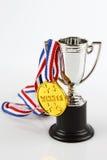Médaille et trophée Photo stock