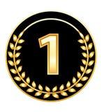 médaille numéro un Photographie stock libre de droits
