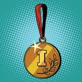 Médaille pour la première place Photographie stock libre de droits