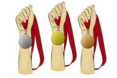médailles Photographie stock libre de droits