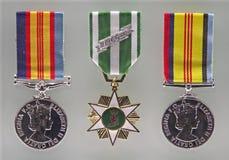 Médailles australiennes de guerre Photographie stock