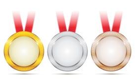 Médailles d'accomplissement Photos stock