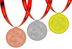 Médailles d'Olimpic Photographie stock