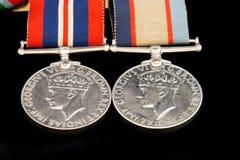Médailles de guerre Photos libres de droits