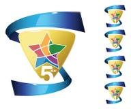 Médailles de récompense d'étoile Images libres de droits