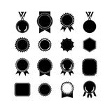 Médailles de Setof d'isolement sur le blanc conceptions de label Image libre de droits