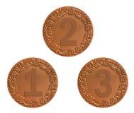 Médailles pour l'attribution Photo stock