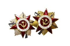 Médailles soviétiques de guerre de WWII Photos libres de droits