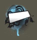 Médaillon abstrait - bleu Photos libres de droits