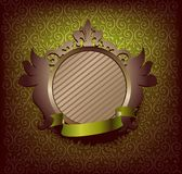 Médaillon avec la bande verte Images stock