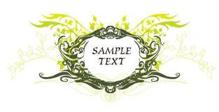Médaillon décoratif de cru Photographie stock libre de droits
