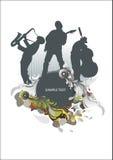 Médaillon de concert de musique Photos libres de droits