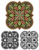 Médaillon ornemental avec des variations Images stock