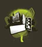 Médaillon urbain - vert Photographie stock libre de droits